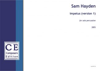 Sam Hayden: impetus for solo percussion